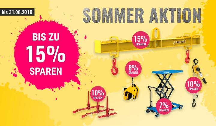 Sommer-Aktion - bis zu 15% Rabatt auf verschiedene Produkte